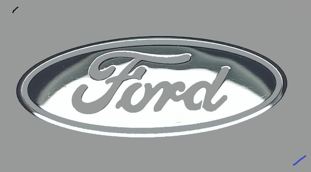 FORD LOGO nalepka Metal Edition