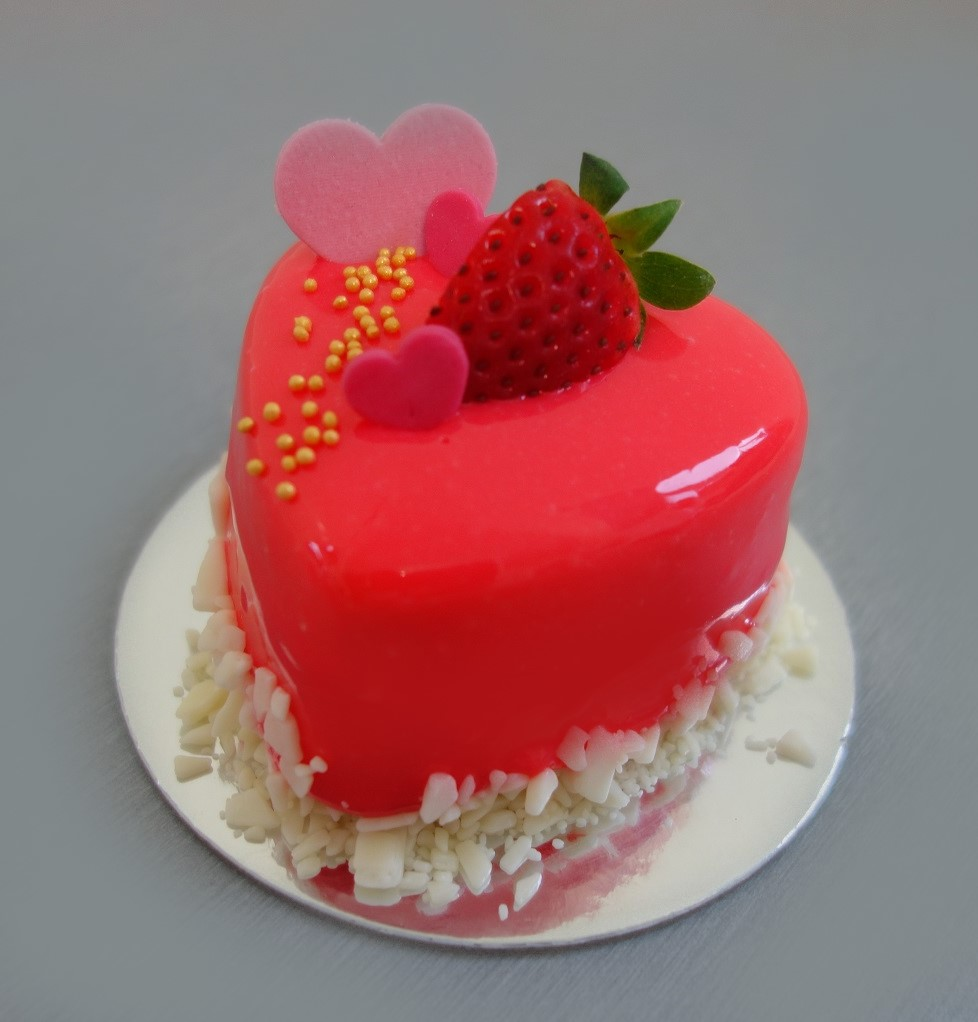Luxury dessert Heart RED - Valentín/ 5 ks