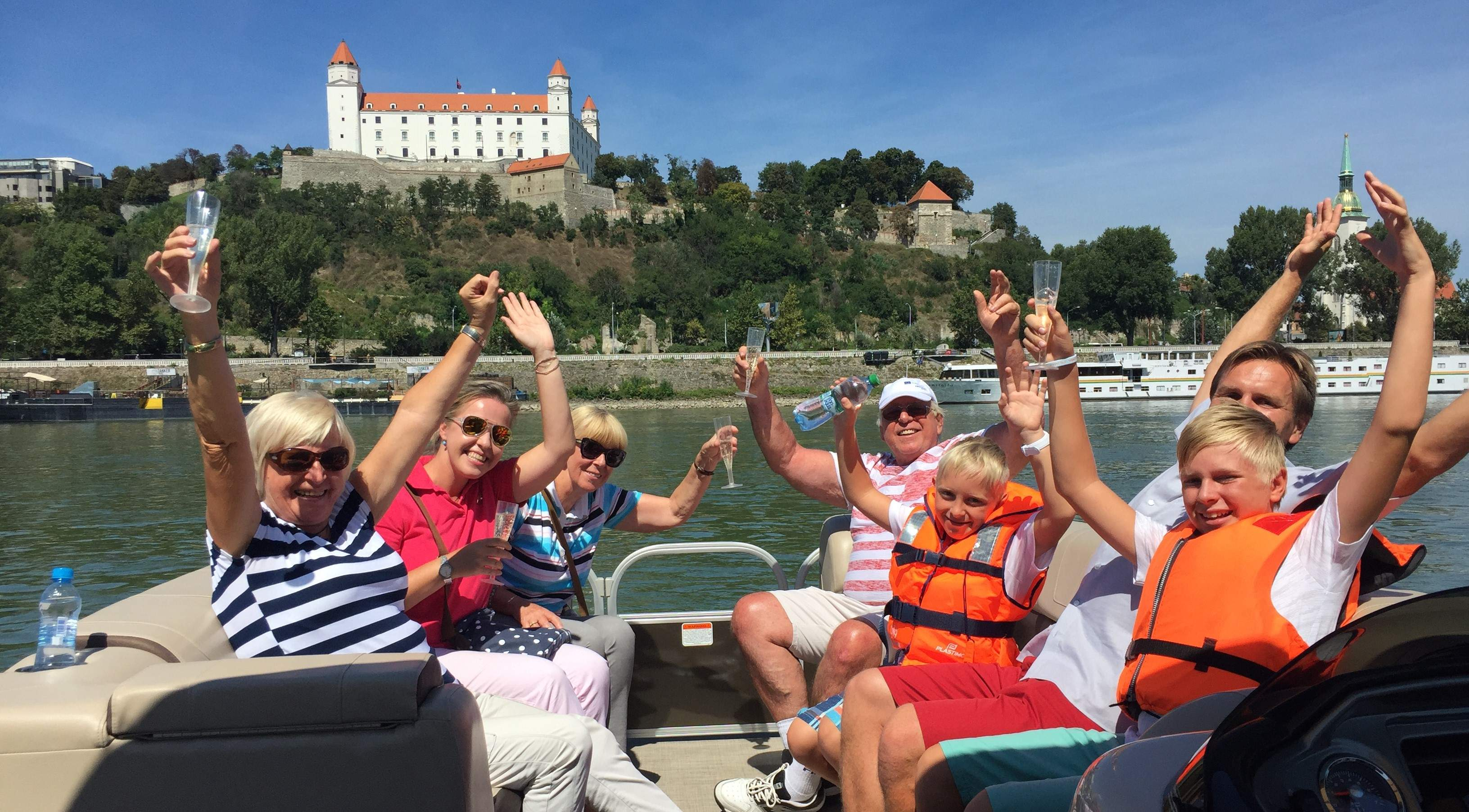 Party boat on Danube