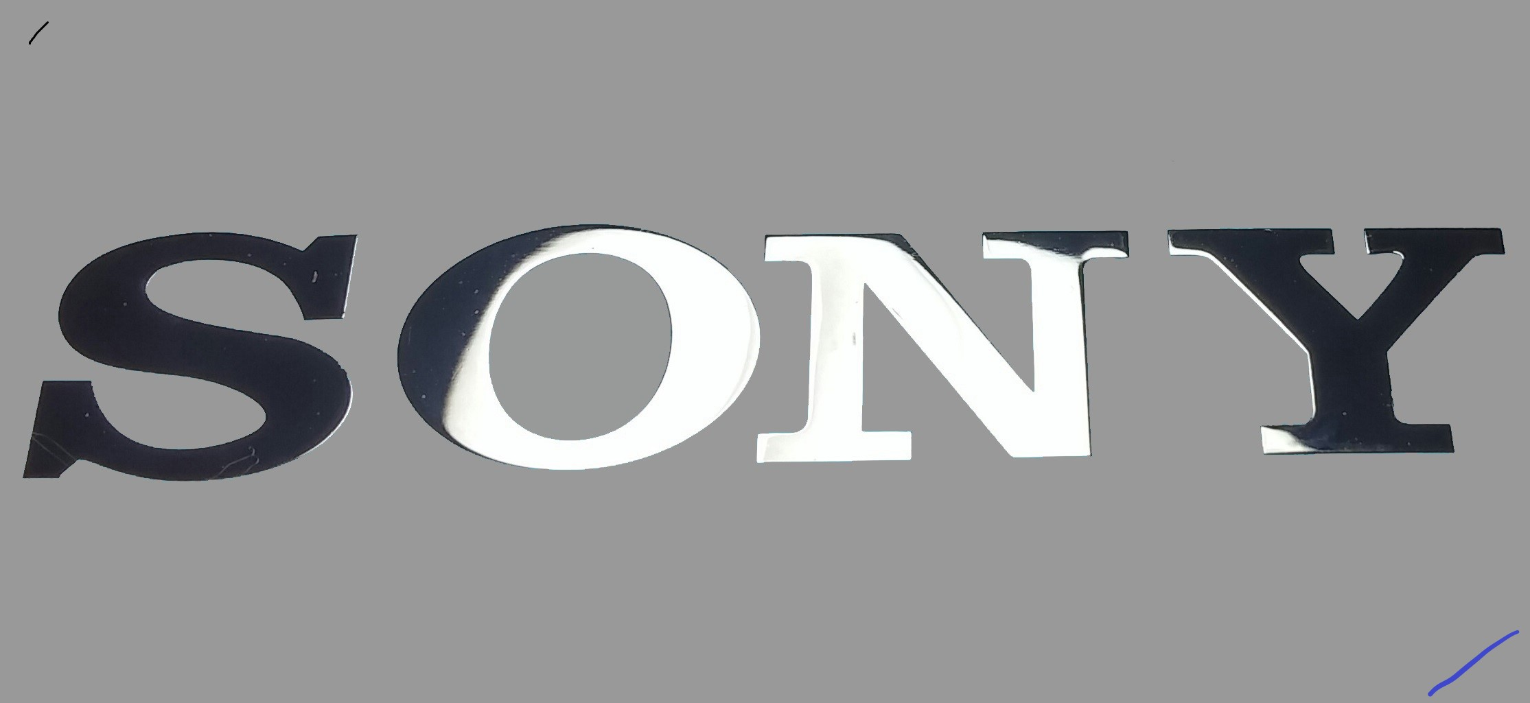 SONY LOGO nalepka Metal Edition