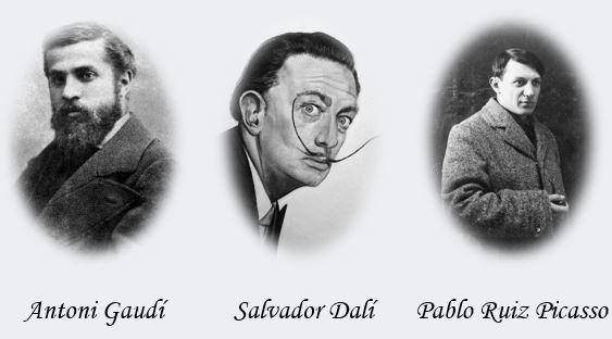 Gaudi-Dali-Picassojpg
