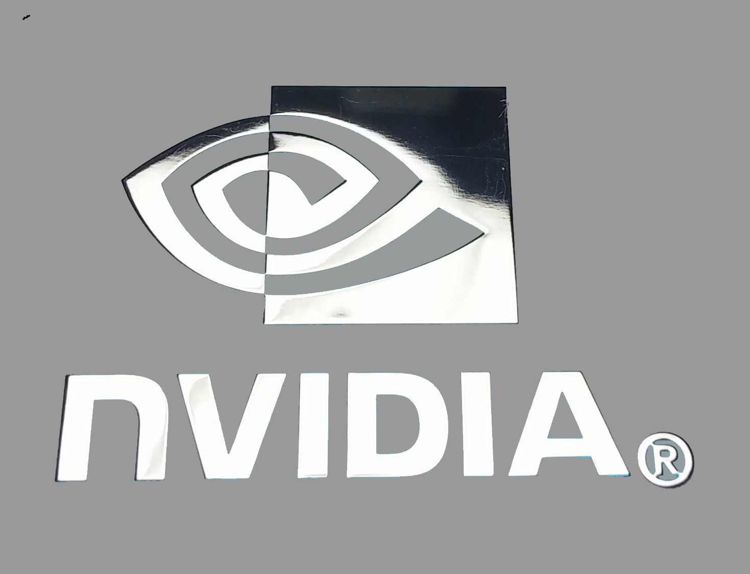 NVIDIA nalepka Metal Edition 30 x 22 mm chrom