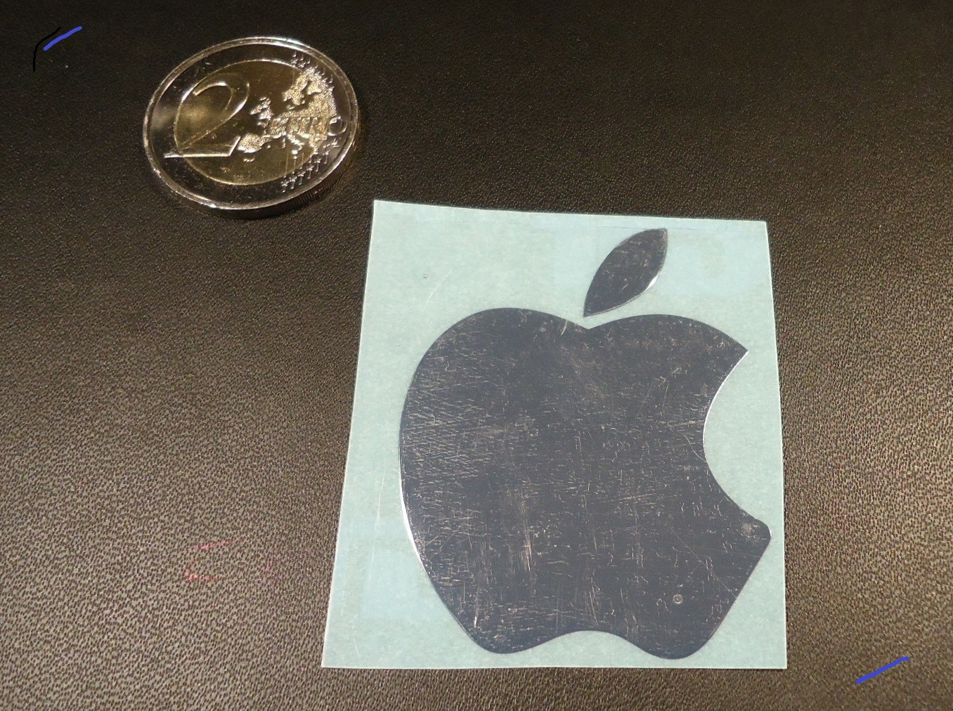 APPLE LOGO nalepka Metal Edition ZLATA a CHROM