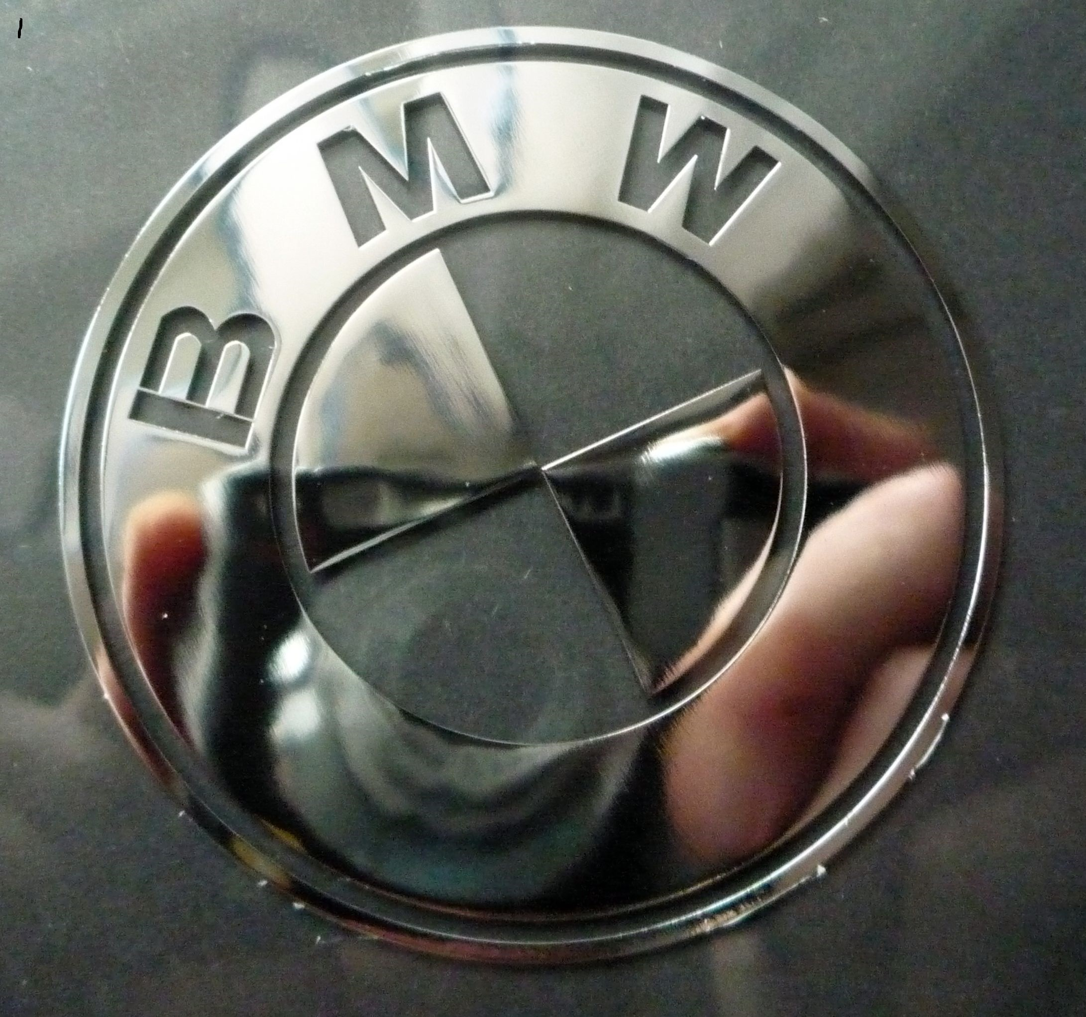 BMW LOGO nalepka Metal Edition 30 a 60 mm