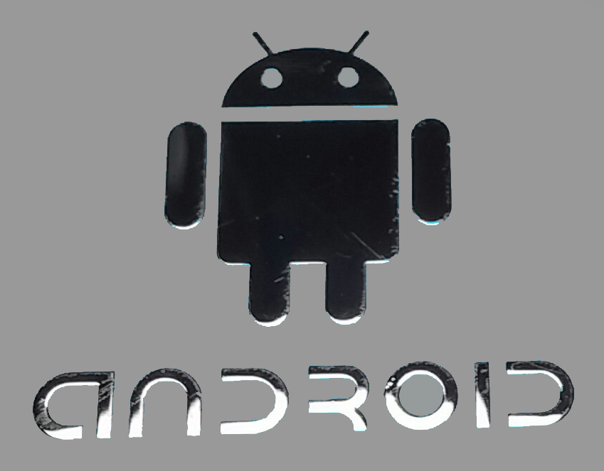 ANDROID LOGO nálepka Metal Edition 28x25 mm