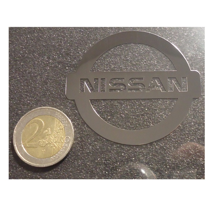 NISSAN LOGO nalepka Metal Edition 30x27mm