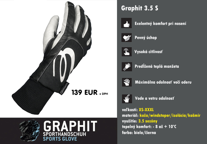 Paragliding gloves GRAPHIT 3.5 S