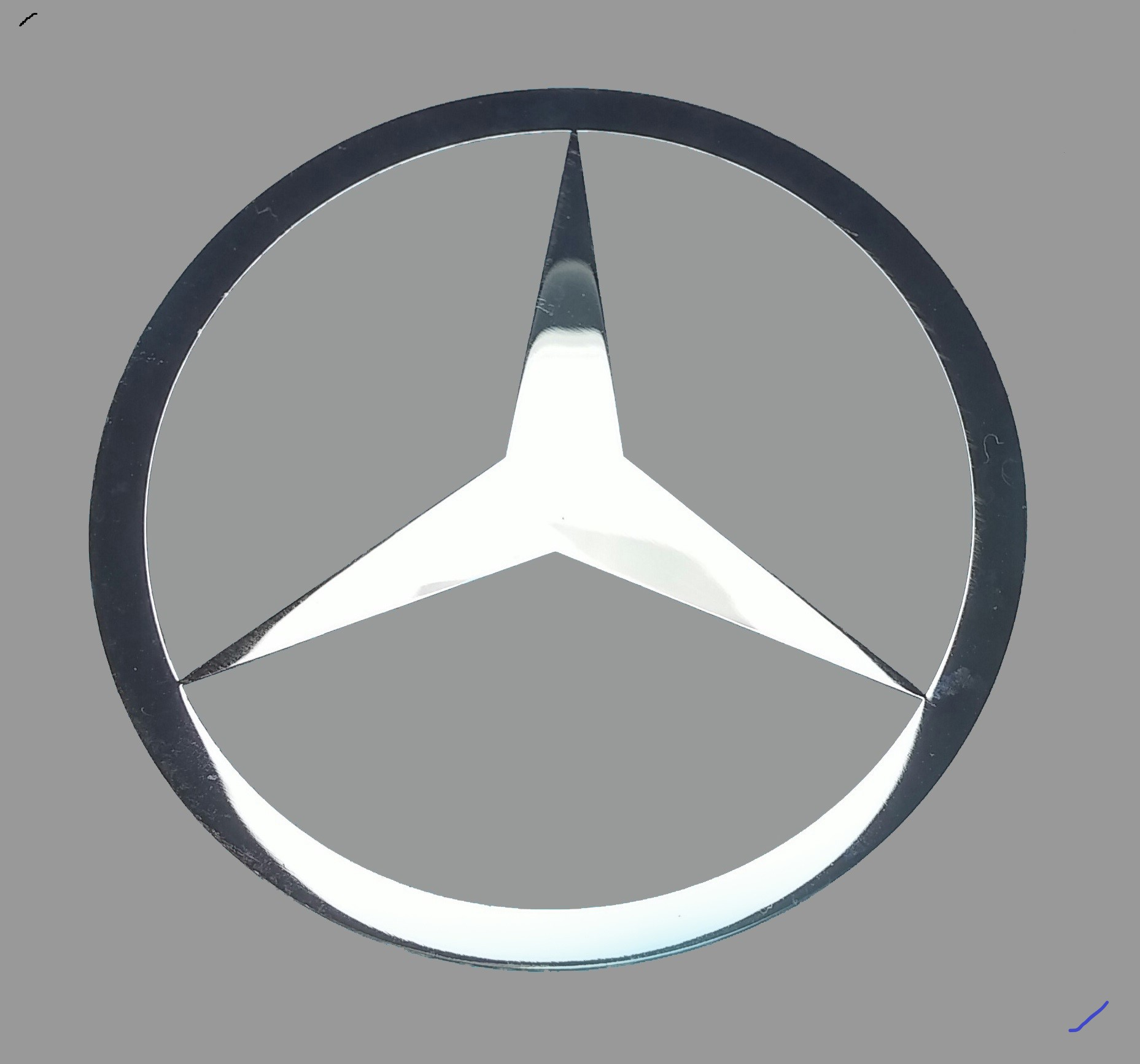 MERCEDES LOGO nalepka Metal Edition 60 a 32 mm