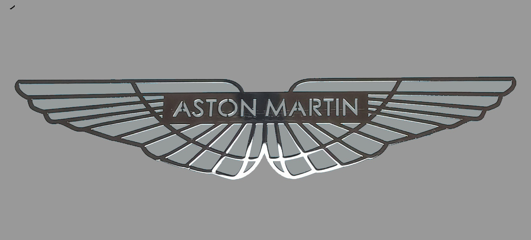 ASTON MARTIN LOGO nalepka Metal Edition 70 x 15 mm