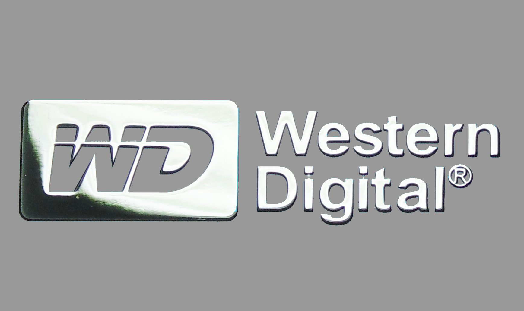 Nálepka Western Digital Metal Edition 30x9 mm