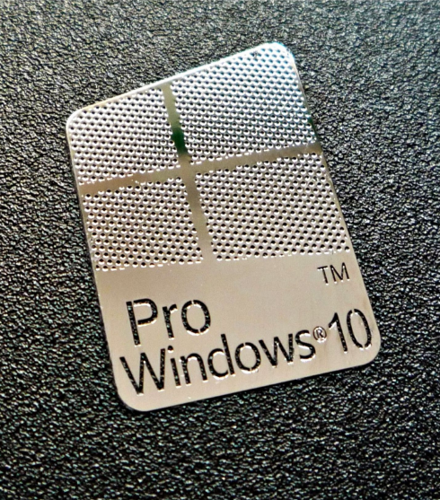 Nálepka Windows10 Pro Metal Edition 16x23mm